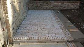 Terrasse : Pendant la pose des barrettes